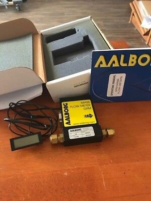 AALBORG GFM17 MASS FLOW METER N2 0-100 mL/min NEW IN BOX WITH DISPLAY,