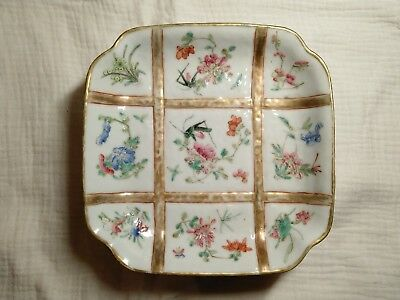 19th century antique Chinese Qing dynasty Tongzhi Famille rose plate #89241