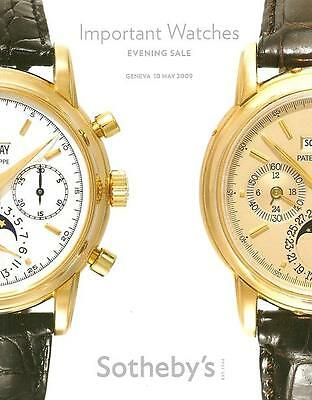 Sotheby's ///  Imp. Watches & Wristwatches Patek Post Auction Catalog May 2009