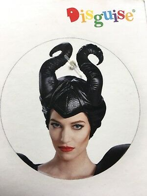 Disney Maleficent Headpiece Horns Classic Black Halloween Costume Ages 14 + NEW
