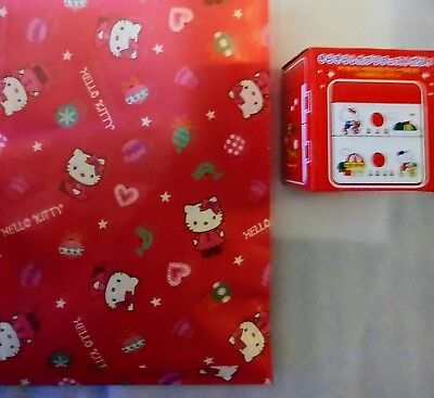 Sanrio Hello Kitty Rare Plastic Trinket Box 1984 NEW + Bonus Bag of Sanrio gifts