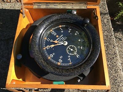 US Navy Seth Thomas WW2 Mark 2 Model 0 Zig Zag Course Clock