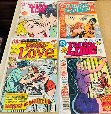 Romance Comics Young Love 4-Issue Lot Bronze Age, ( DC )