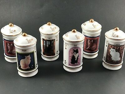 "Lenox Spice Jar ""Cats of Distinction"" Fine Porcelain Spice Jars 6"