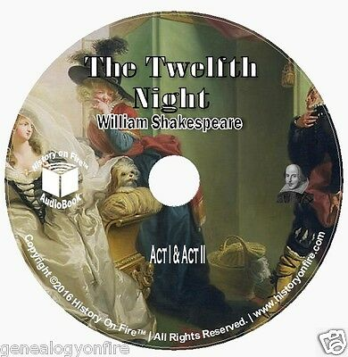 Twelth Night by William Shakespeare Full Cast (audio CD, Audio book) on 2 CD's
