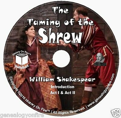 Shakespeare's The Taming of the Shrew Full Cast (audio CD, Audio book) on 2 CD's