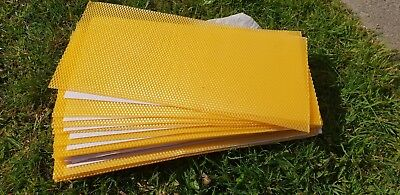 60 Beeswax Foundation Sheets - Full Depth - Heavy Duty - Spring Sale - Buy Now