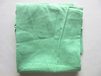 """Vtg 1930's 40's Solid Green Cotton Fabric  Vintage 30's Green   34 1/4"""" X 1 Yd"""