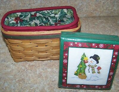 Longaberger 2004 Holiday Helper Basket Combo With New Napkins