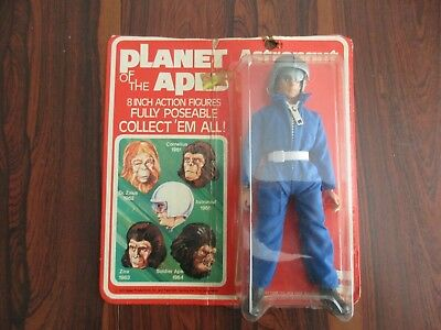 Vintage Mego Astronaut - Planet Of The Apes - Sealed On Card - 1973