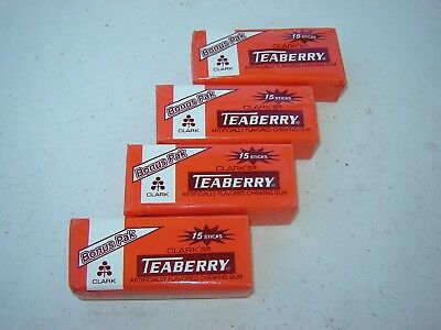 Four Teaberry Packs Of Gum