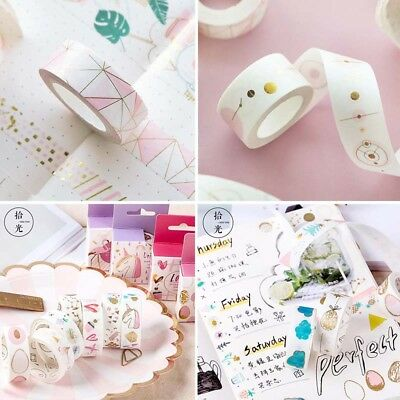 Cartoon Pink Foil Paper Washi Tape Stationery Scrapbooking Decorative Stickers