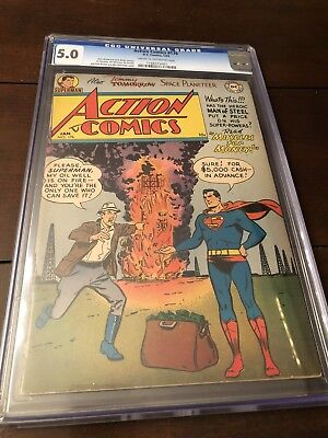 Action Comics # 176 Cgc 5.0 Extremely Rare Issue