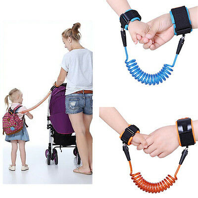 Hot Kids Safety Harness Leash Anti Lost Toddler Wrist Link Wristband Ropes 2.5M