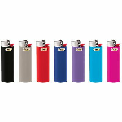 12 Full Size Bic Lighters Assorted Colors Classic Regular Oval-Shaped Barrel