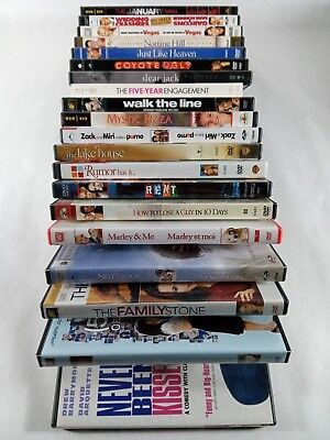 20 DVD lot Rom Com Rent Notebook Never been kissed ETC Great Movies