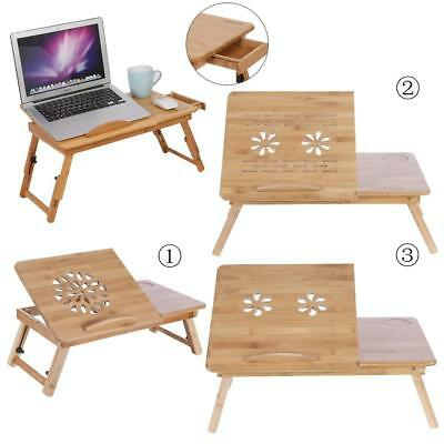 Portable Multifunction Bamboo Laptop Notebook Computer Home Desk Bed Tray Table