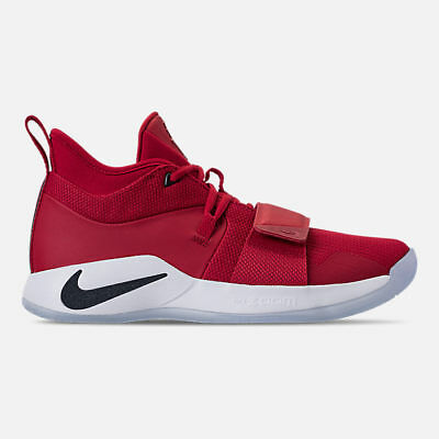Nike Mens Pg 2.5 Gym Red Obsidian White Basketball Shoes 2018 **best Seller