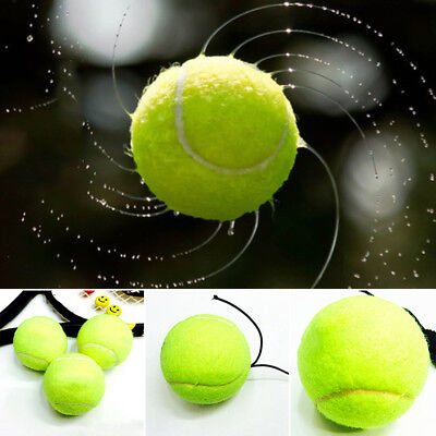 Resilience Tennis Ball Exercise Rubber Cord Elastic Green Outdoor Sport Soft