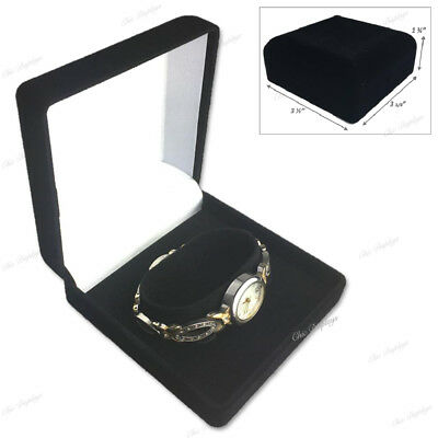 Lot Of 7 Velour Watch Gift Boxes Black Watch Box Wholesale Jewelry Boxes