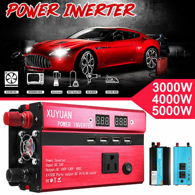 4000W/5000W/8000W/10000W Inverter Sine Wave DC12/24V To AC 110V/220V Convert RED
