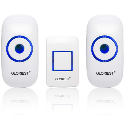 Wireless Doorbell Chime 2 Receiver 1 Transmitter 4 Volume 1000FT Door Bell Chime
