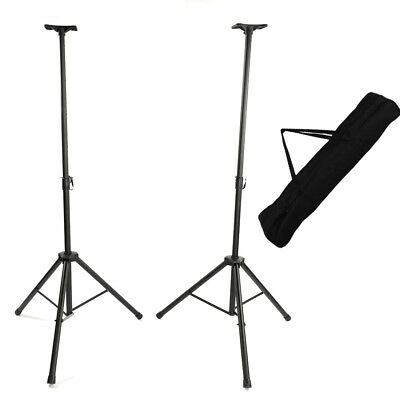 2pcs Tripod DJ PA Speaker Stands Adjustable Height Stand with Portable Bag Black