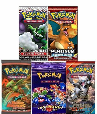 Pokemon Cards - 5 Booster Pack Lot (Random packs) - New Sealed