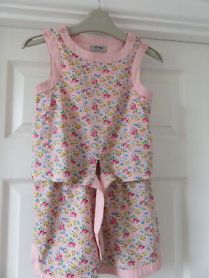 Next Girls Pink Floral Ditsy Summer Playsuit Age 5 Years