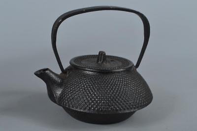 R4000: Japanese Iron Arare pattern TEA KETTLE Teapot Tetsubin Tea Ceremony