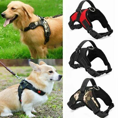 Nylon Dog Harness No Pull Adjustable Pet Puppy Large Dog Harness Pets Vest AU