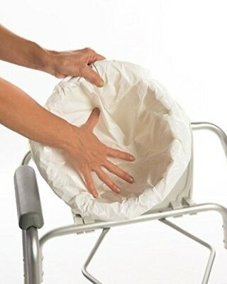 Disposable Commode Liner Adult Commode Pail Chair Cover Pad Toilet Seat Tie 48pc