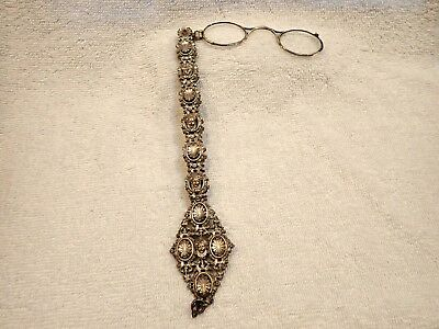 Very Rare Massive Table Lorgnette--French Gothic Style  (Silver Or Plated?)