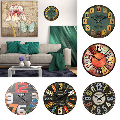 067A Wall Decor Kitchen Decoration Watch Antique Wooden 30cm Classic Office