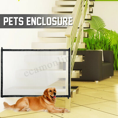 Magic Mesh Pet Dog Gate Safe Guard Install Anywhere Pet Safety Enclosure Barrier