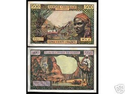 Equatorial African States 500 Francs P4 1963 Camel Unc Rare France Currency Note