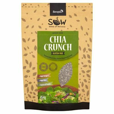SOW  Chia Crunch Toasted Black Chia Seeds 454g