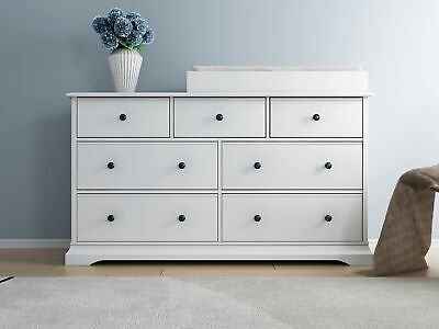 white Cardinia baby change table/changer / 7 chest of drawers/free change pad