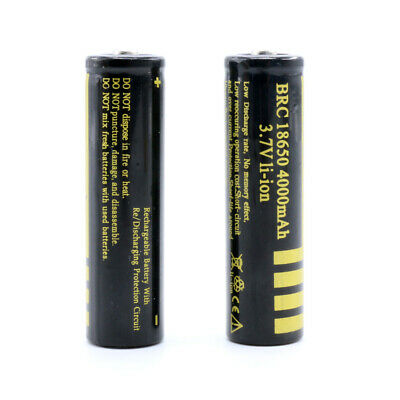 18650 3.7V 4000mAh BRC Rechargeable Li-ion Battery Lithium Cells UK Seller CO