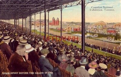 CANADIAN NATIONAL EXHIBITION, TORONTO ONTARIO Track Sport before the Grand Stand