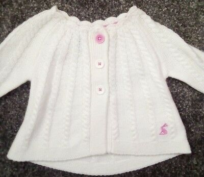 Baby Girls Joules Cardigan Joules Knitwear 0-3 months