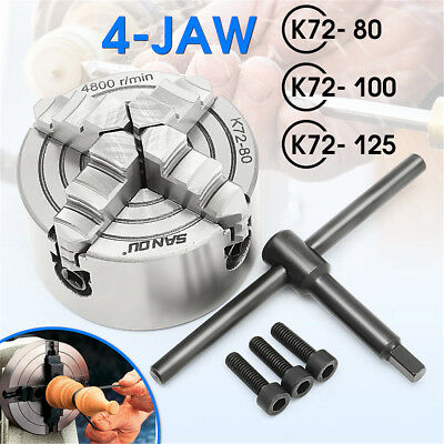 100/125mm 4 Jaw Lathe Chuck Independent Hardened Steel Engineering CNC Tool