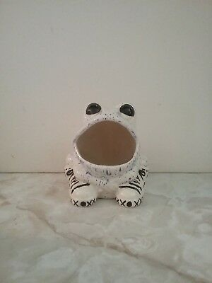 Ceramic Blue and White Frog Scouring Pad Holder