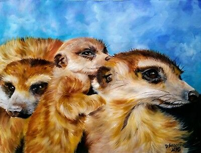 "FAMILY TIES oil on canvas 18X24""original painting Black Friday Sale  $120.oo"