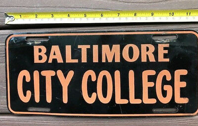 1950s ? MARYLAND license plate booster  BALTIMORE CITY COLLEGE