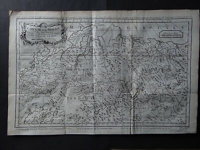 1757 BELLIN  Atlas map  SIBERIA - Carte de la Siberie