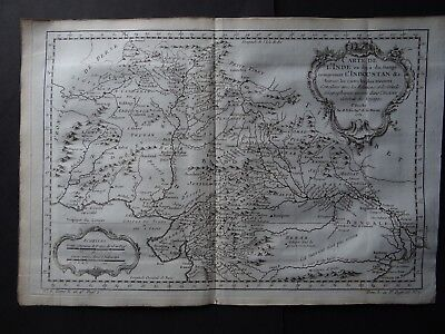 1752 BELLIN  Atlas map  Northern INDIA - Carte L'Inde - L'Indoustan