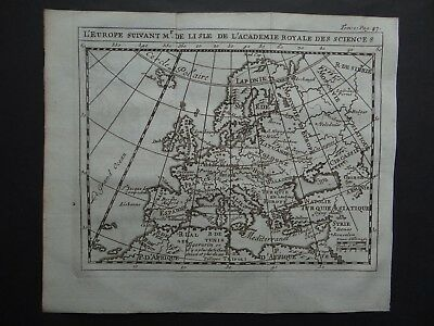 1752 Limiers Atlas  DELISLE  map  EUROPE - De Lisle