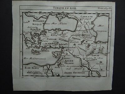 1752 Limiers Atlas  DELISLE  map  TURKEY in ASIA - De Lisle - Turquie en Asie