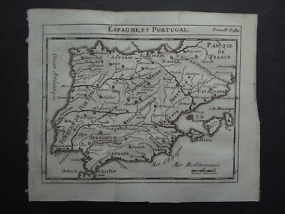 1752 Limiers Atlas  DELISLE  map  SPAIN & PORTUGAL - Espagne - De Lisle